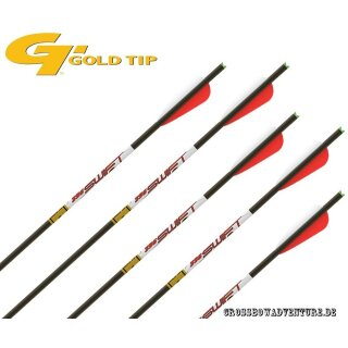 6 Stück 20 GoldTip Swift Armbrust Bolzen Carbon